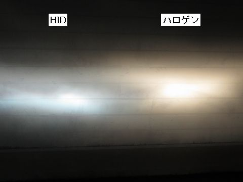 HIDの光軸(ハイビーム)