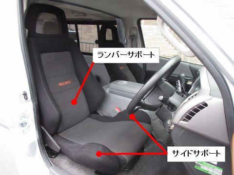 セミバケットシート(各部名称)