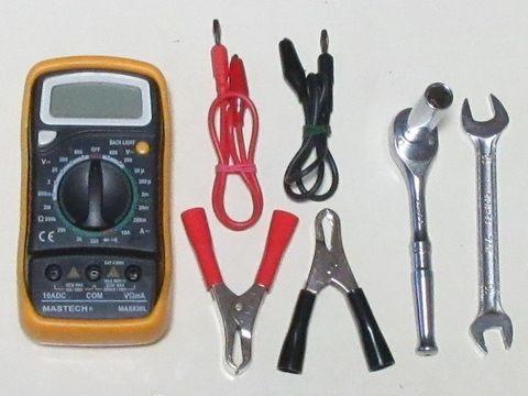 暗電流計測に必要な工具