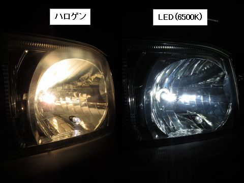 LEDヘッドライトの光色