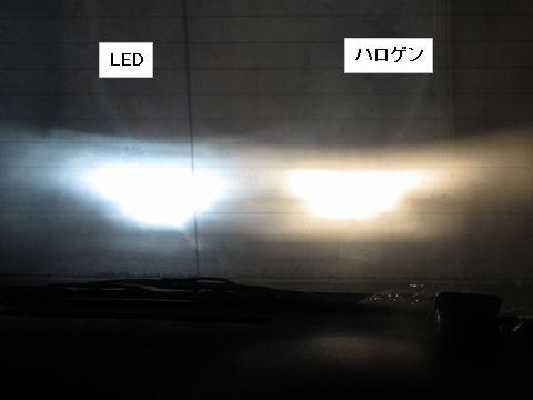 LEDヘッドライトの光軸(ハイビーム)