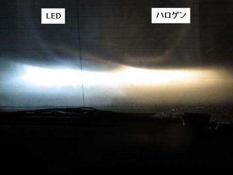 LEDヘッドライトの光軸(ロービーム)