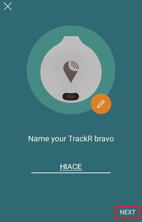 TrackR アプリのインストール(ペアリング)
